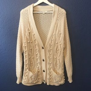 MOTH ANTHROPOLOGIE Knit Cardigan Sweater